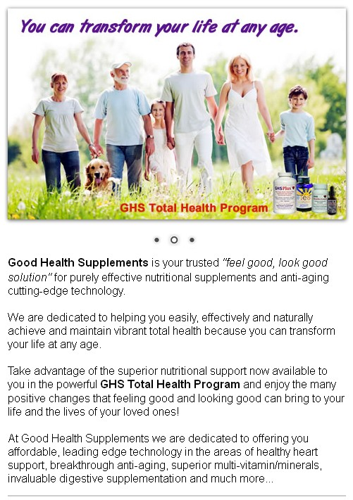 Good Health Supplements & Nutrition