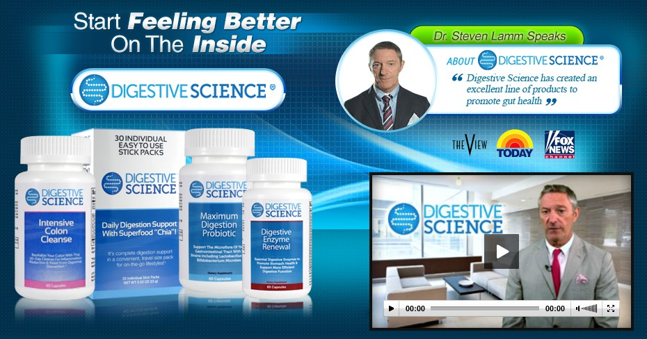 Digestive Science® Digestive System and Colon Health all-natural supplements